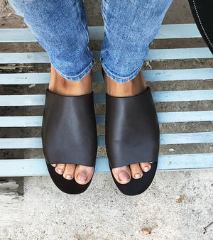 Dark Brown Slip Ons