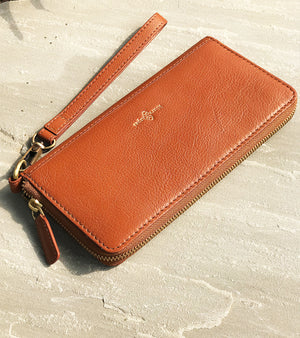 Double chamber wallet- brown