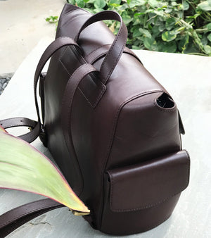 Burgundy brown back pack