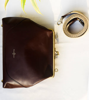 Burgundy Bucket Clutch