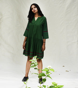 Forest Green Shift Dress