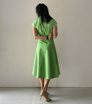 Parakeet Green Wrap Dress