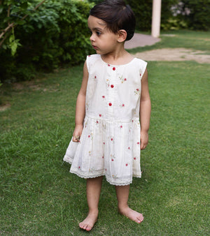 Red Daisy Print Frock