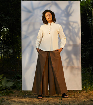 Mud Brown Wide Leg Pants