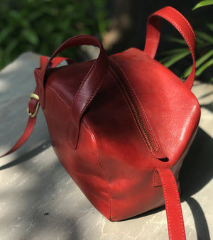 RED MINI BASKET BAG