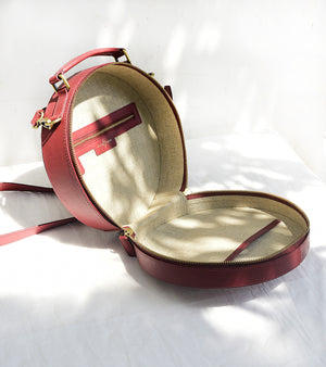 Scarlet Red Circular Bag