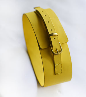 Yellow Corset Belt