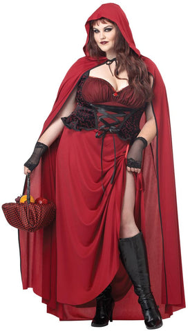 Red Riding Hood, Dark- Adult  Plus Size