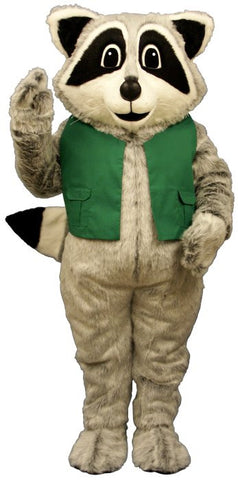 Raccoon Costume with Hanker & Vest