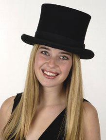 Black Wool Top Hat (Deluxe Quality)