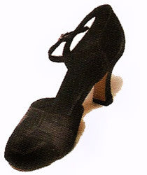 Black 20's Shoes - Open Toe