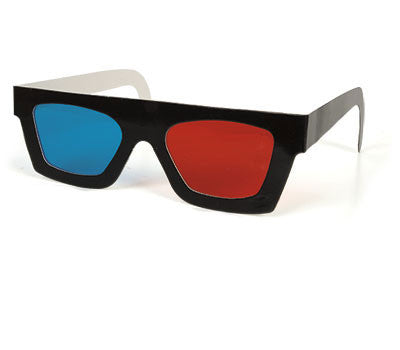 3D Glasses - Classic Blue & Red 3-D Glasses !
