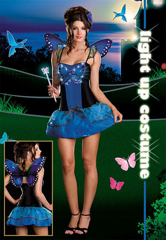 Blue Butterfly Beauty Costume (Light Up)