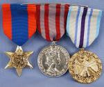 TRIPLE WAR MEDALS