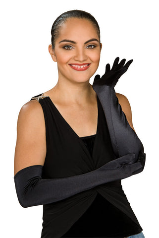 Stretch Satin Opera Gloves 22""
