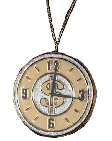 Rappers Clock Necklace - Medallion  35-9085