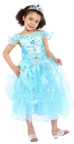 Pretty Princess Costume - Blue dress-up Gown