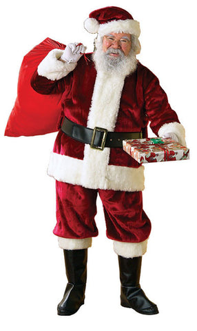 Santa Suit - Crimson Regency Plush Christmas Costume