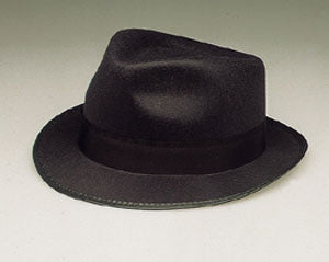 Black Razor Fedora Hat
