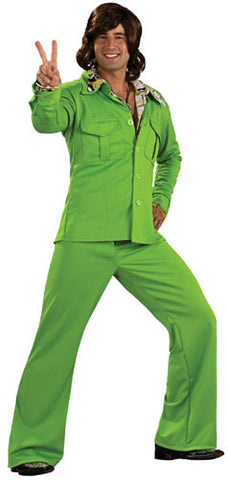 Lime Green Leisure Suit 70s Costume