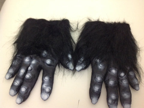 Gorilla Hands - Black Hairy Hands  1-2832