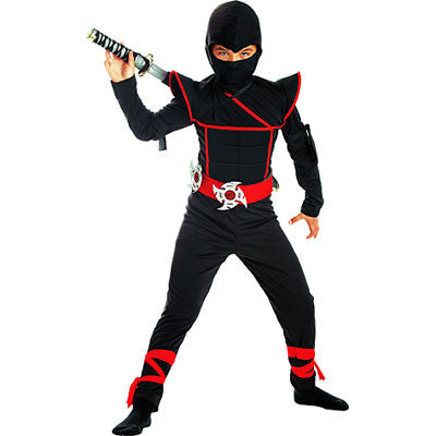 Ninja, Black Warrior Costume - Childs