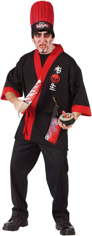 Psycho Sushi Chef Adult Costume