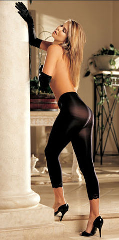 Black Opaque Leggings (footless)