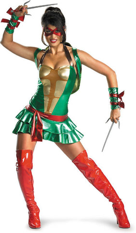 Sexy Teenage Mutant Ninja Turtles DELUXE ADULT COSTUME ALL COLORS AVAIL