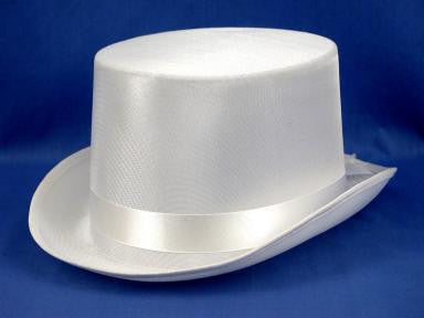 Satin White Top Hat