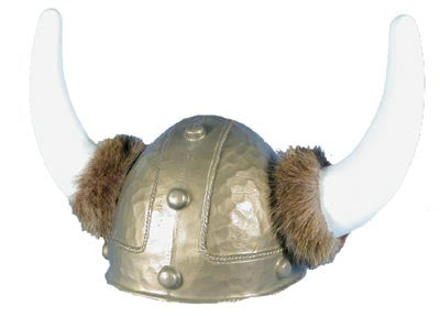 Viking Helmet with Fur - Gold