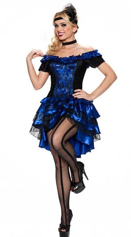Blue Dance Hall Queen Costume - Plus Size