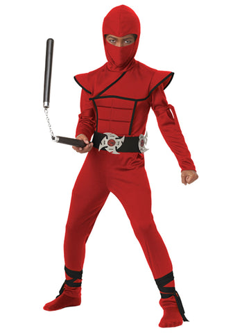 Ninja, Red Stealth Costume - Childs