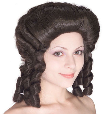 Colonial Woman Wig - Brown