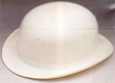 Derby Hat - White Felt