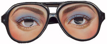 Funny Girl Glasses - Funny Mask Eyeglasses