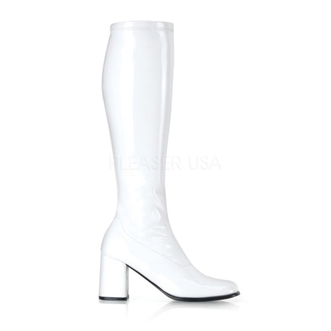 Go Go Boots 300/W - White Shiny Patent Leather  81-BX24 - W