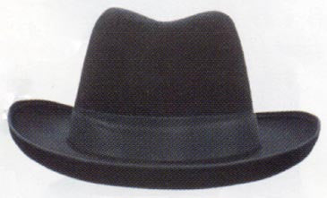 Black Permalux Godfather Hat