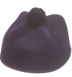 Priest Hat - Black Permafelt