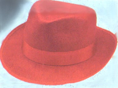 Fedora Hat - Red