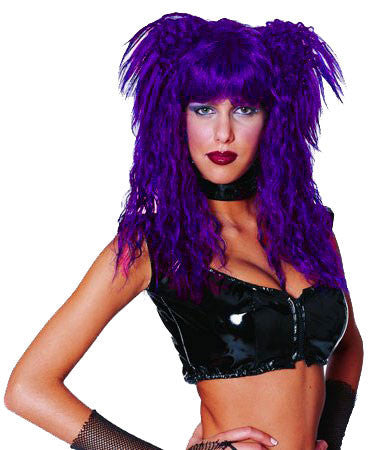 Fairy Rock Star Wig (Neon Purple)
