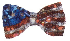 Sequin Bow Tie - American Flag