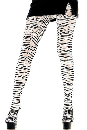 Zebra Tights (Black & White)