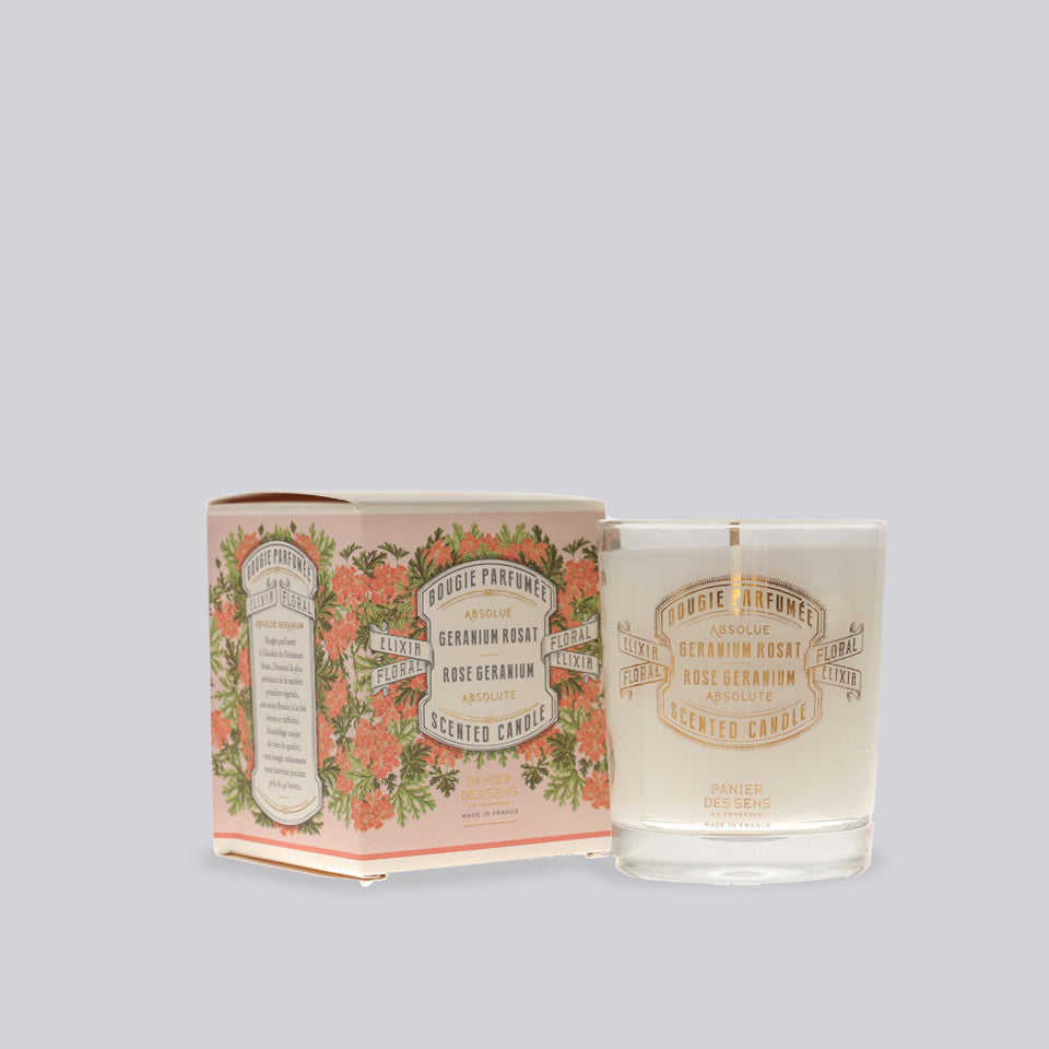 Rose Geranium Scented Candle