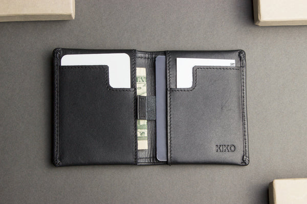 Slim Bifold Wallet Black