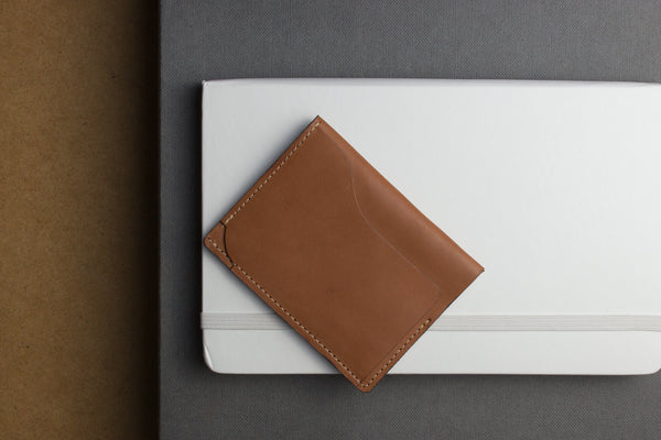 Leather Card Case Brown