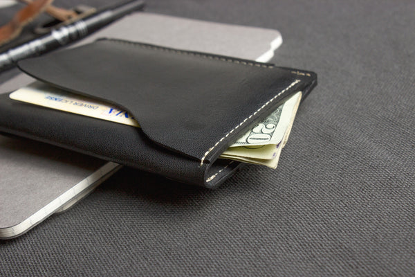 Leather Card Case Black