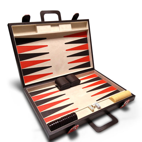 A+A Backgammon grande con brocado - Koon Artesanos