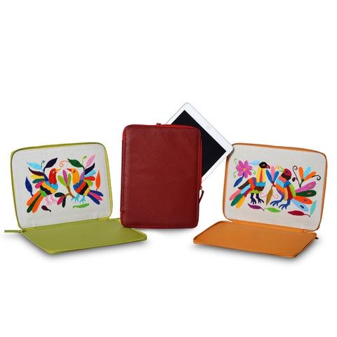 A+A Funda iPad Mini Flexible Otomi – de piel – colores