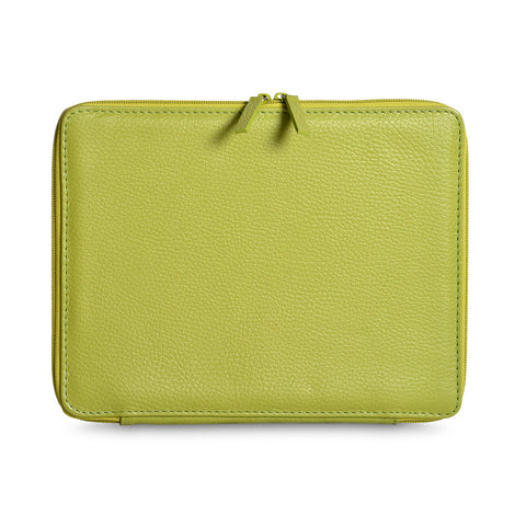 A+A Funda iPad Flexible Otomi – de piel – verde limon